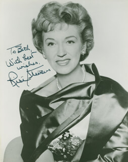 RISE STEVENS - AUTOGRAPHED INSCRIBED PHOTOGRAPH