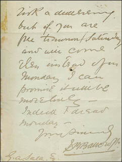 SIR SQUIRE BANCROFT - AUTOGRAPH LETTER SIGNED 04/23