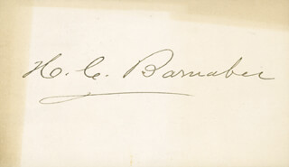 HENRY CLAY BARNABEE - AUTOGRAPH