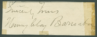 HENRY CLAY BARNABEE - AUTOGRAPH SENTIMENT SIGNED CO-SIGNED BY: EARLE RYDER