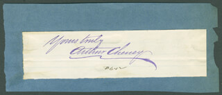ARTHUR CHENEY - AUTOGRAPH SENTIMENT SIGNED