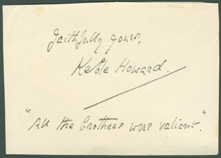 JOHN KEBLE KEBLE HOWARD BELL - AUTOGRAPH QUOTATION SIGNED