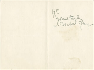 ISABEL JAY - AUTOGRAPH LETTER SIGNED 11/08/1898