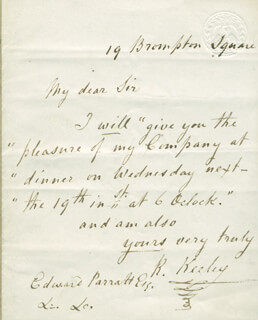 ROBERT KEELEY - AUTOGRAPH LETTER SIGNED