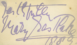 MARY EASTLAKE - AUTOGRAPH SENTIMENT SIGNED 1889