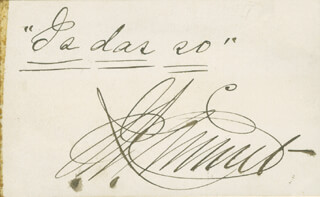 JOSEPH K. EMMETT - AUTOGRAPH QUOTATION SIGNED