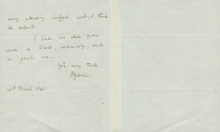 EDWARD FITZBALL - AUTOGRAPH LETTER SIGNED 03/20/1843