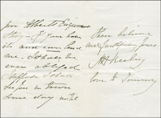 MARY ANNE KEELEY - AUTOGRAPH LETTER SIGNED