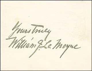 Autographs: WILLIAM J. LeMOYNE - AUTOGRAPH SENTIMENT SIGNED