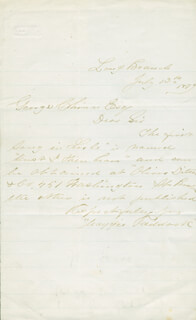 MAGGIE MITCHELL - AUTOGRAPH LETTER SIGNED 07/13/1879