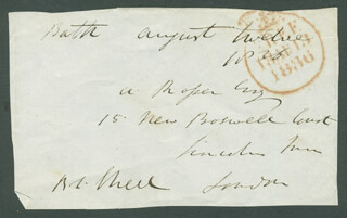 RICHARD LALOR SHEIL - AUTOGRAPH ENVELOPE SIGNED 08/12/1836