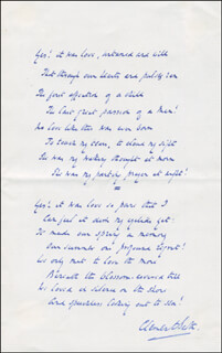 CLEMENT SCOTT - AUTOGRAPH POEM SIGNED