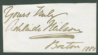 ADELAIDE NEILSON - AUTOGRAPH SENTIMENT SIGNED 1880