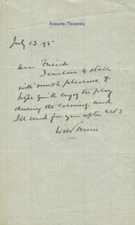 WILLIAM TERRISS - AUTOGRAPH LETTER SIGNED 07/13/1895