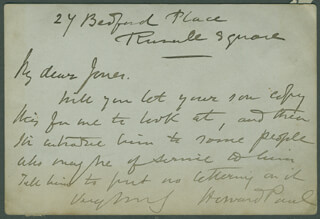 HOWARD PAUL - AUTOGRAPH LETTER SIGNED