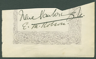 DAME IRENE VANBRUGH - AUTOGRAPH CO-SIGNED BY: E. M. ROBSON