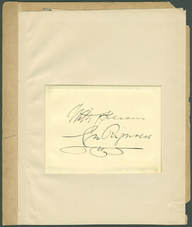 GEORGE RIGNOLD - AUTOGRAPH SENTIMENT SIGNED