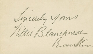 KITTIE BLANCHARD RANKIN - AUTOGRAPH SENTIMENT SIGNED CIRCA 1904