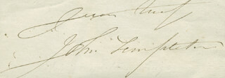 JOHN TEMPLETON - AUTOGRAPH SENTIMENT SIGNED