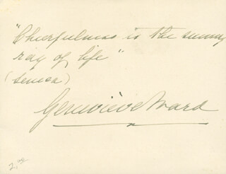 DAME GENEVIEVE WARD - AUTOGRAPH QUOTATION SIGNED