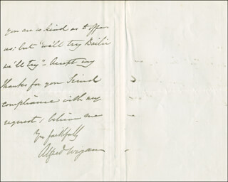 ALFRED WIGAN - AUTOGRAPH LETTER SIGNED 10/09/1871