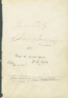Autographs: BARNEY WILLIAMS - AUTOGRAPH SENTIMENT SIGNED CO-SIGNED BY: MARIE KATHLEEN WILLIAMS, AUGUSTE BUISLAY, ADOLPHE BUISLAY, JULES BUISLAY, ETIENNE BUISLAY, JOAQUIN BUISLAY, JULES J. BENEUX, W.A. MOORE