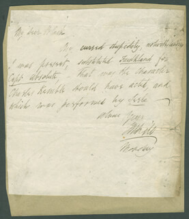 THOMAS HILL - AUTOGRAPH LETTER SIGNED