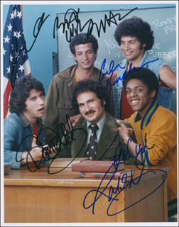 WELCOME BACK, KOTTER TV CAST - AUTOGRAPHED SIGNED PHOTOGRAPH CO-SIGNED BY: GABE KAPLAN, ROBERT HEGYES, JOHN TRAVOLTA, LAWRENCE HILTON-JACOBS, RON PALILLO