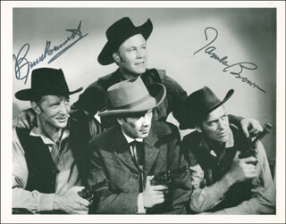 THE YOUNGER BROTHERS MOVIE CAST - AUTOGRAPHED SIGNED PHOTOGRAPH CO-SIGNED BY: JAMES L. RIP BROWN, BRUCE (HERMAN BRIX) BENNETT