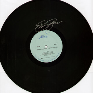 TOMMY JAMES - RECORD SIGNED