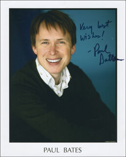PAUL BATES - AUTOGRAPHED SIGNED PHOTOGRAPH
