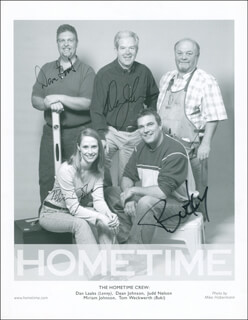 HOMETIME TV CAST - AUTOGRAPHED SIGNED PHOTOGRAPH CO-SIGNED BY: MIRIAM JOHNSON, DAN LAABS, DEAN JOHNSON, TOM BUCKY WECKWERTH