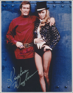 OCTOPUSSY MOVIE CAST - AUTOGRAPHED SIGNED PHOTOGRAPH CO-SIGNED BY: ROGER MOORE, KRISTINA WAYBORN