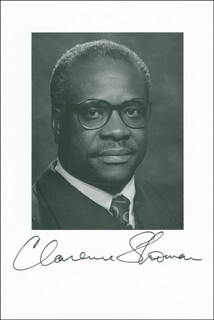 ASSOCIATE JUSTICE CLARENCE THOMAS - AUTOGRAPHED SIGNED PHOTOGRAPH