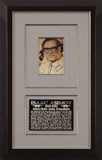 ISAAC ASIMOV - AUTOGRAPHED SIGNED PHOTOGRAPH