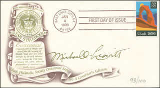 Autographs: MICHAEL O. LEAVITT - FIRST DAY COVER SIGNED