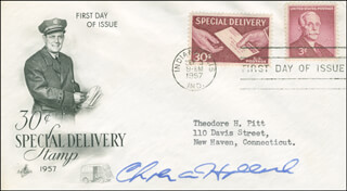 CHARLES A. HALLECK - FIRST DAY COVER SIGNED