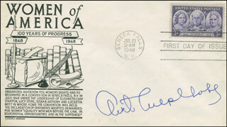Autographs: OVETA CULP HOBBY - FIRST DAY COVER SIGNED