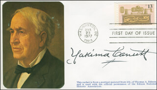 YAKIMA CANUTT - FIRST DAY COVER SIGNED