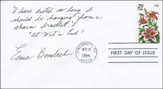 ERMA BOMBECK - AUTOGRAPH QUOTATION SIGNED