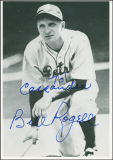 BILLY ROGELL - AUTOGRAPHED INSCRIBED PHOTOGRAPH
