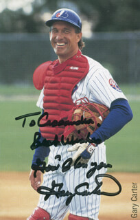 GARY CARTER - AUTOGRAPHED INSCRIBED PHOTOGRAPH