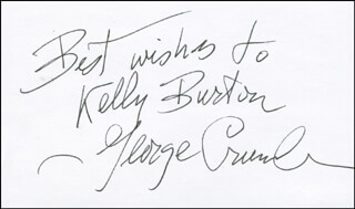 GEORGE CRUMB - AUTOGRAPH NOTE SIGNED