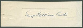 GEORGE WILLIAM CURTIS - AUTOGRAPH