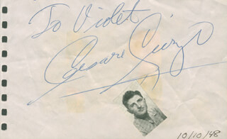 CESARE CURZI - INSCRIBED SIGNATURE CIRCA 1948