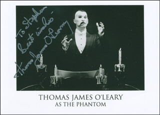 THOMAS JAMES O'LEARY - AUTOGRAPHED INSCRIBED PHOTOGRAPH