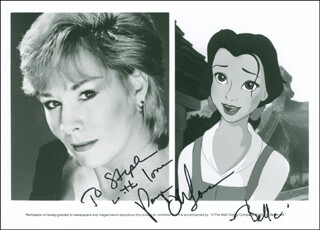 PAIGE O'HARA - AUTOGRAPHED INSCRIBED PHOTOGRAPH