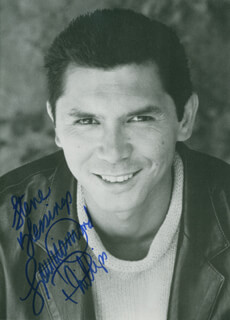 LOU DIAMOND PHILLIPS - AUTOGRAPHED INSCRIBED PHOTOGRAPH