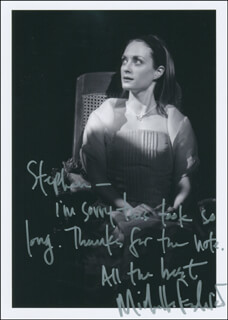 MICHELLE FEDERER - AUTOGRAPH NOTE ON PHOTOGRAPH SIGNED
