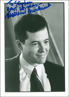 MATTHEW BRODERICK - AUTOGRAPHED INSCRIBED PHOTOGRAPH